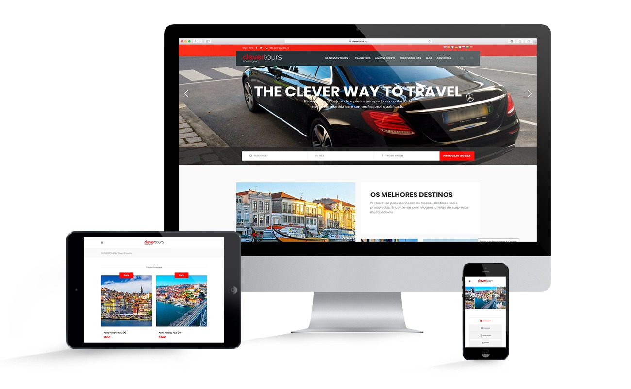 Web Site da CLEVERTOURS - MEDIA DIGITAL